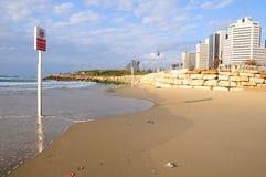 Пляж Тель-Авив Стоковое Изображение