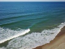 Пляж трески Атлантического океана и накидки Стоковая Фотография RF