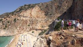 Пляж Турция Kaputas сток-видео