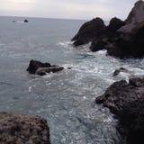 Пляж утеса Стоковое фото RF