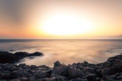 Пляж утеса Seascape в Sinop, Турции Стоковое Фото