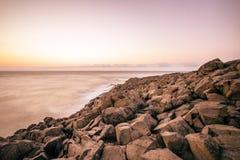 Пляж утеса Seascape в Sinop, Турции Стоковое фото RF