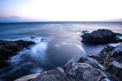 Пляж утеса Seascape в Sinop, Турции Стоковое Изображение RF