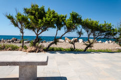 пляж утесистый Стоковые Изображения