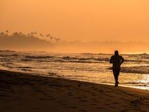 Пляж утра Стоковая Фотография