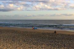 Пляж утра Стоковые Изображения