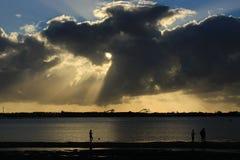 Пляж утра Стоковая Фотография RF