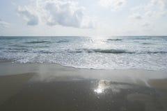 Пляж утра Chumphon Таиланда стоковое изображение