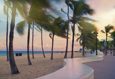 пляж Форт Лаудердале стоковое фото rf