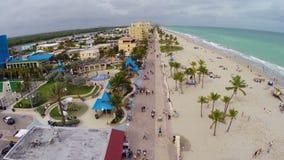 Пляж Флорида Голливуда видеоматериал