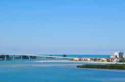 Пляж Флорида Clearwater моста песка ключевой Стоковые Фотографии RF