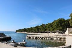 пляж Хорватия Стоковое Изображение RF
