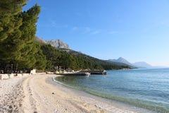 пляж Хорватия Стоковая Фотография RF