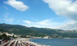 Пляж Черногория Стоковое Изображение