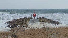 Пляж шторма Стоковое Фото