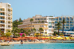 Пляж - штыри les Хуана стоковое изображение rf