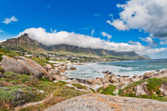 Пляж Южная Африка залива лагерей стоковое фото rf