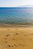 Пляж Agia Анны, остров Naxos, Киклады, эгейские, Греция Стоковые Фотографии RF