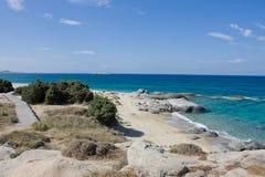 Пляж Agia Анны Стоковые Изображения RF