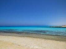Пляж Agiba в Marsa Matruh стоковое изображение