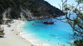 Пляж Agiofili, лефкас, Греция Стоковое Изображение RF