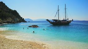 Пляж Agiofili, лефкас, Греция Стоковая Фотография RF