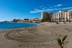 Пляж Aguadulce Испания стоковое фото