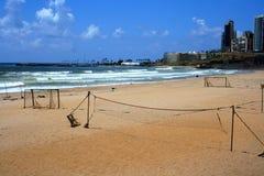 Пляж al-Baida Ramlet, Бейрут, Ливан Стоковое Фото