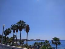 Пляж Alanya Стоковое Изображение