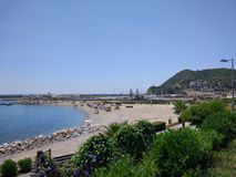 Пляж Alanya Стоковые Фотографии RF