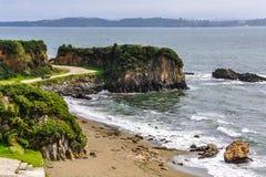 Пляж, Ancud, остров Chiloe, Чили Стоковые Фото
