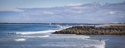 Пляж Anglet Стоковые Изображения