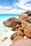 Пляж Anse Лациа Стоковая Фотография