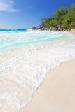 Пляж Anse Лациа Стоковое Изображение