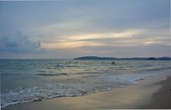 Пляж Ao Nang в Таиланде Стоковые Изображения