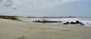 Пляж Apulia в севере Португалии около городка Esposende Стоковое Изображение
