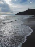 Пляж Arkoudilas, Корфу, Греция Стоковая Фотография RF