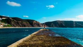 Пляж Arrifana в Алгарве Стоковые Изображения