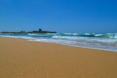 Пляж Atlit Стоковое Изображение RF