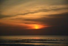 Пляж Balangan Заход солнца Стоковые Фото