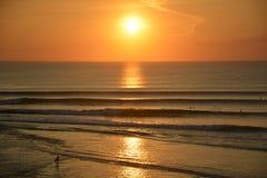 Пляж Balangan Заход солнца Стоковые Изображения RF