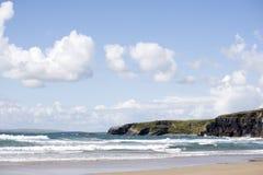 Пляж Ballybunion на одичалом атлантическом пути Стоковое фото RF
