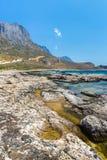 Пляж Balos. Взгляд от острова Gramvousa, Крита в Греции. стоковые изображения