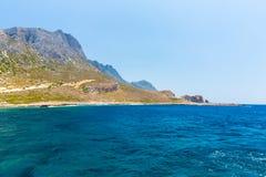 Пляж Balos. Взгляд от острова Gramvousa, Крита в Греции стоковое фото
