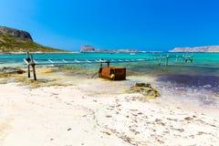 Пляж Balos. Взгляд от острова Gramvousa  стоковая фотография