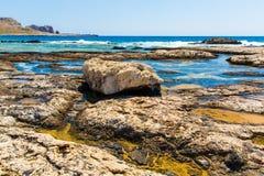 Пляж Balos. Взгляд от острова Gramvousa  стоковые изображения rf