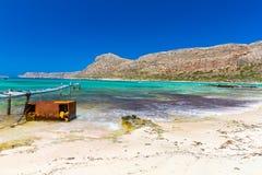 Пляж Balos. Взгляд от острова Gramvousa   стоковая фотография rf