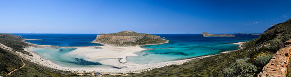 Пляж Balos в западном Крите, Греции Стоковые Фотографии RF