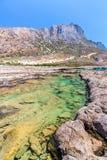 Пляж Balos. Крит в водах бирюзы Greece.Magical, лагунах, пляжах чисто белого песка. стоковое фото rf