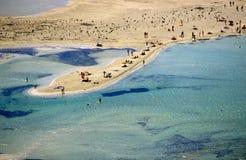 Пляж Balos стоковое изображение